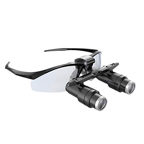 Marco Negro Binocular Médico Dental Lupa Quirúrgico Lupa (4X, 5X, 6X, 6.5X Opcional),6X