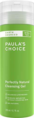Paula's Choice Earth Sourced Gezichtsreiniger - Milde Gel Reiniger met Natuurlijke Ingrediënten - verwijdert Vuil & Make-up - met Aloë Vera & Decyl Glucoside - Alle Huidtypen - 200 ml