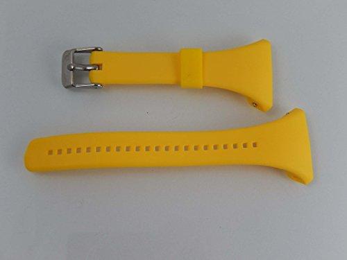 vhbw TPE Ersatz Armband L 11.5cm + 8.5cm passend für Polar FT4, FT4f, FT4m, FT7, FT7m Fitness Uhr, Smart Watch - gelb