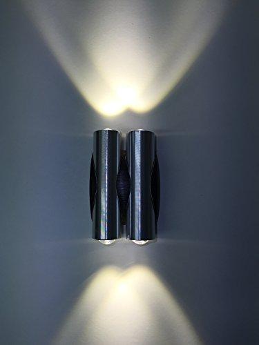 SpiceLED-lampada da parete '- double M-LED' 4 x 3 W bianco lampada da parete LED effetto luce