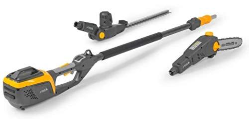 Stiga podadora y cortasetos telescópico a batería SMT500AE (batería y cargador no incluidos).