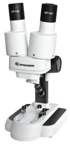 Bresser junior Stereo 3D Mikroskop mit 20x Vergrößerung für Kinder und Erwachsene für die Beobachtung von Steinen, Münzen, Insekten und vielem mehr