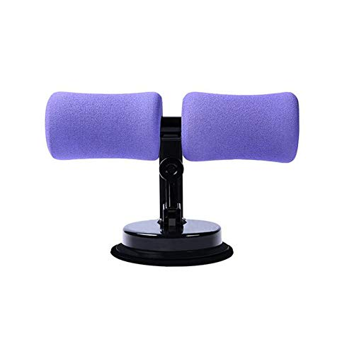 RXRENXIA Sit-Up Exercise Bar, Dispositivo Sit-Up Regolabile Spessa in Schiuma Morbida, Famiglia Attrezzature Fitness con Ventosa per Corpo Attrezzature Addominale Tonner Muscolare E Forza,Purple