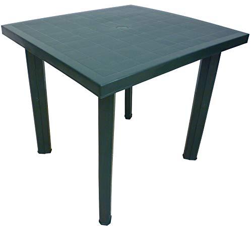 SF SAVINO FILIPPO Tavolo tavolino Quadrato in Resina di plastica Verde Fiocco per Esterno Interno Giardino Balcone