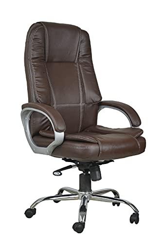 Casa Copenhagen High Back Leatherette Executive Office/Ergonomic Chair/Director Chair- Dark Brown