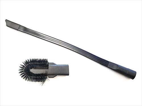 GOODVAC Universal 25' Long Flexible Crevice Tool with Detachable Brush for Dryer Lint, Under Furniture