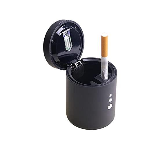ZXZCV Ajuste para la práctica bandeja de cenizas del coche herramienta humo quitar con tapa taza titular accesorios coche negro