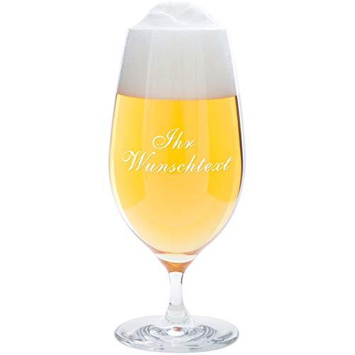 Geschenke 24 Bierglas mit Gravur zum Vatertag - 0,3 Liter Leonardo - graviertes Pilsglas - personalisiertes Geschenk für Männer, Väter, Papa, Freund, Sohn zum Vatertag als Vatertagsgeschenk