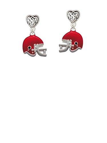 Small Red Football Helmet - Celtic Heart Earrings