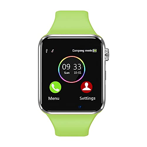 Smart Watch for Android Phones Compatible with iPhone Samsung, Sazooy Fitness Tracker Touch Screen Bluetooth Smartwatch with Sim SD Card Slot Camera Support Calls Messages for Women Men Kids (Green)