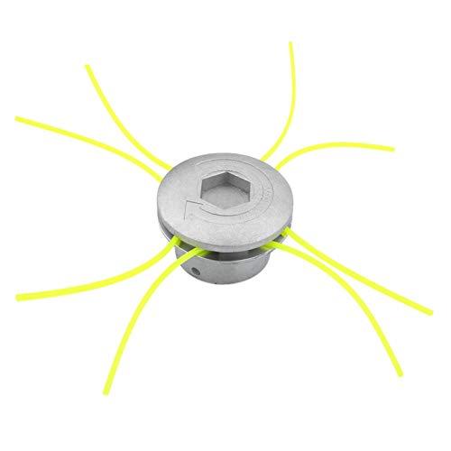 Fydun Testina per erba in alluminio Testina per decespugliatore in alluminio universale Set di corde Accessorio per decespugliatore per erba