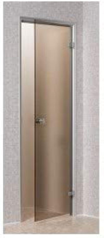 Unbekannt Tür für Hammam Bronze 70 x 190 cm temperierten Glas Sicherheit Aluminiumrahmen