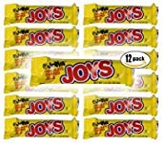 Chocolate Covered Jelle, Joyva Raspberry Joys, 1.5-Ounce Packages (Pack of 12, Total of 18 Oz)