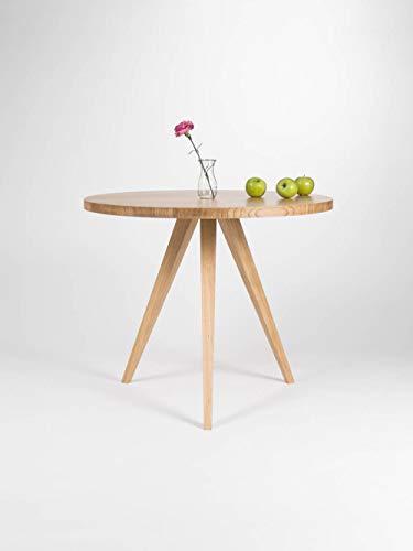 Runder Esstisch, Küchentisch aus massivem Eichenholz, Ø 90 cm