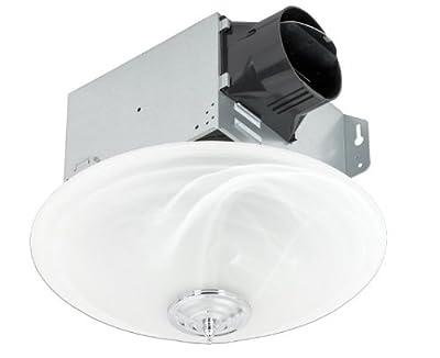 Delta Electronics (Americas) Ltd. GBR100LED-DÉCOR Delta BreezGreenBuilder Series 100 CFM Décor Fan/LED Light, 13W, 1.5 Sones, White from Delta Electronics (Americas) Ltd