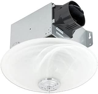 Delta Electronics (Americas) Ltd. GBR100LED-DÉCOR Delta BreezGreenBuilder Series 100 CFM Décor Fan/LED Light, 13W, 1.5 Sones, White