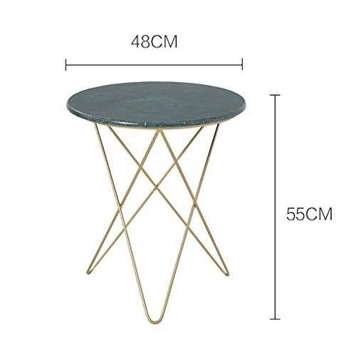 Tables basses Table basse, table d'appoint table de chevet avec panier de rangement, petite table d'appoint Petite table basse en fer forgé nordique, table d'appoint pour canapé, table basse en marbre