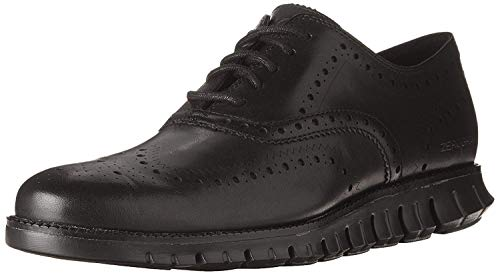 Cole Haan Men's Zerogrand Wing OX Leather Oxford, Closed Hole/Black, 9 Medium US