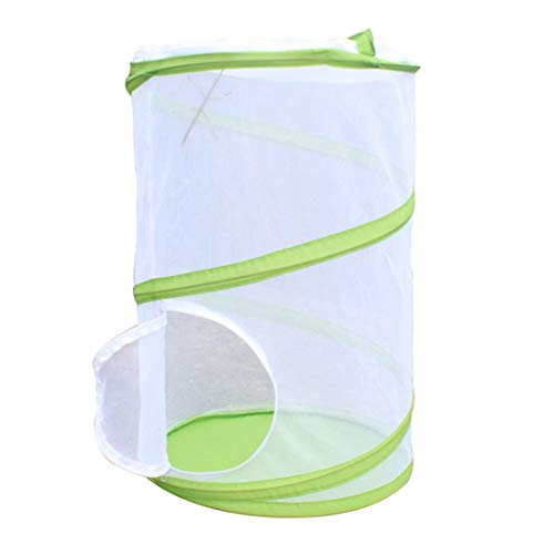 MYYINGELE ButterflyCollapsible Insect and Butterfly Habitat Net Terrarium Pop-up Tall White Kids Butterfly Net Insect and Butterfly Habitat Cage Terrarium for Kids