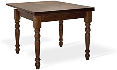 Arredamenti Rustici Mesa de comedor extensible de madera de pino ...