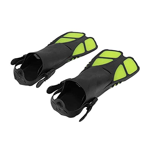 Sgxiyue Adult Swimming Fins Adjustable Diving Fins Comfortable Snorkeling Swimming Flippers Diving Swimming Shoes Scuba Diving Flippers (Color : Yellow)