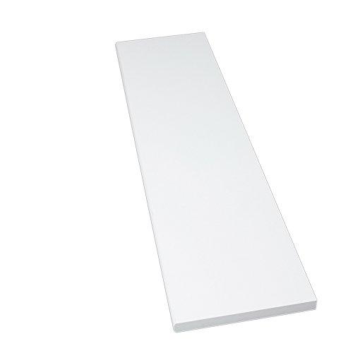 Möbelbauplatte Regalbrett Weiß 800 x 500 x 16 mm, runde Kante, 4 Seiten umleimt