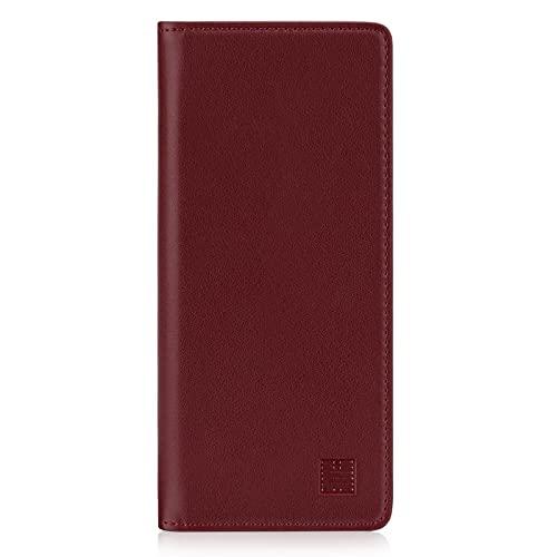 32nd Klassische Series 2.0 - Lederhülle Hülle Cover für Sony Xperia 1 III (2021), Echtleder Hülle Entwurf gemacht Mit Kartensteckplatz, Magnetisch & Standfuß - Burg&er