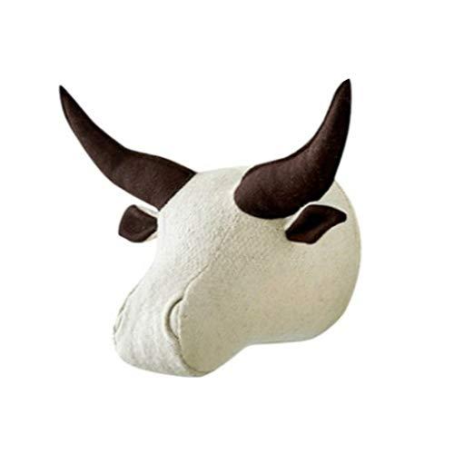 YOYOHO 3D Cabezas de Animales de Peluche decoración de la habitación búfalo de Agua Caballo Perro Cabeza de Rinoceronte - 2#