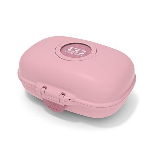 monbento - Lunch Box Enfant - Boite bento Repas ou goûter - sans BPA - Durable et sûre (Boîte à gouter, Blush)