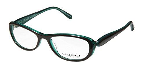 Koali By Morel 7183k Womens/Ladies Designer Full-rim Affordable Brand Name European Eyeglasses/Eyewear (51-16-130, Brown/Transparent Teal)