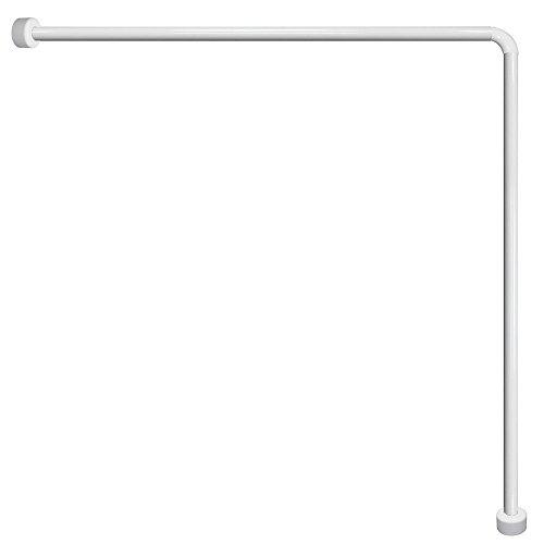 MAURER 4042200 Barra para Cortina Ducha Universal Aluminio Blanco 80x80 cm