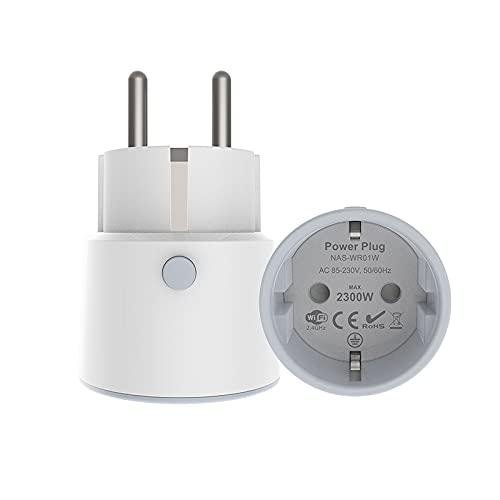 Enchufe de Alimentación Inteligente Mini Interruptor Inalámbrico WiFi Temporizador de Control Remoto Adecuado para Alexa Google Home 10A