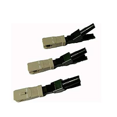 Lysee Fiber Optic Equipments - 100PCS FTTH SC UPC multimode fiber optic SC UPC quick connector SC FTTH Fiber Optic Fast Connector SC Connector