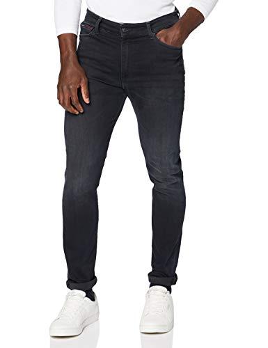 Tommy Jeans Simon SKNY DYJBK Jeans, Dynamic Jacob Negro adaptador de cable, W34 / L30 para Hombre