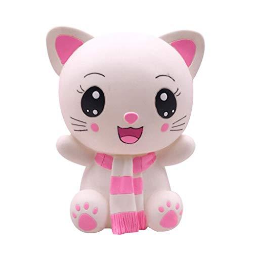Sparschwein/Spardose Nette Katze Piggy Bank-Münzen-Bank-Geld-Bank rund 800 Münzen Stored Geschenke for Verliebte Kinder Home Decoration Sparschwein für Mädchen (Color : Pink)