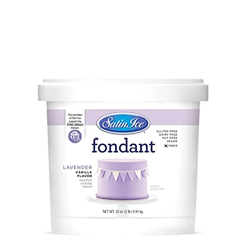 Satin Ice Lavender Fondant, Vanilla, 2 Pounds