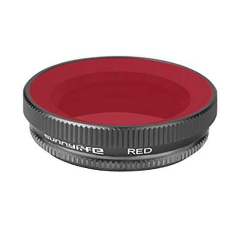 SinceY Sportcamera-duikfilter voor DJI Osmo action-accessoires voor optische glazen lenzen, rood