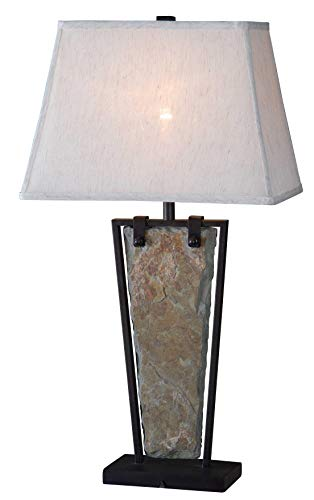 Kenroy Home Rustic Table Lamp ,30 Inch Height, 16 Inch Length, 12 Inch Width with Natural Slate Finish