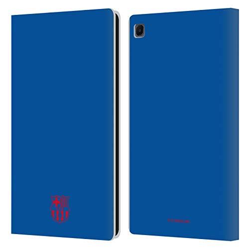Head Case Designs Licenciado Oficialmente FC Barcelona Azul Crest Patterns Carcasa de Cuero Tipo Libro Compatible con Samsung Galaxy Tab S6 Lite