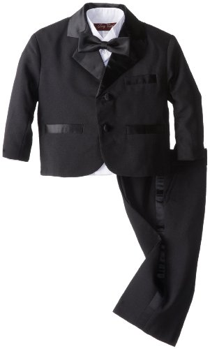 Joey Couture Baby Boys' Tuxedo Suit No Tail, Black, 12 Months/Medium
