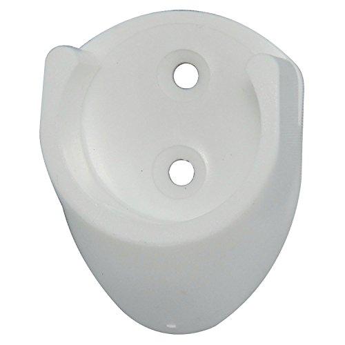 SECOTEC Kleiderstangenhalter | Schrankrohrlager weiß 25mm | 2 Stück