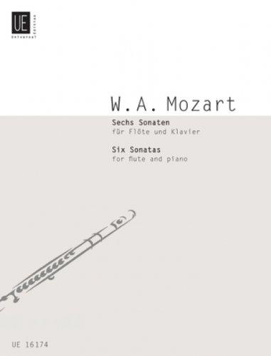 UNIVERSAL EDITION MOZART W.A. - SIX SONATAS BAND 1 - FLUTE AND PIANO Klassische Noten Querflöte
