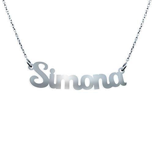 Collana con Nome in Argento (Simona)