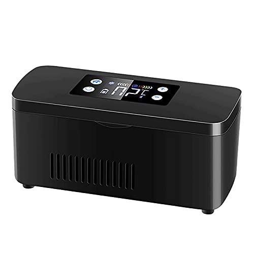 Mini Refrigerador Para DiabéTicos, Nevera De Insulina Con BateríA Incorporada De 10200 Mah, Refrigerador De Temperatura Constante De Drogas De 8 Horas-Black