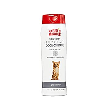 Nature s Miracle Supreme Odor Control Hypoallergenic Shampoo & Conditioner 16 oz