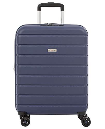 imome Top Maleta de Cabina Azul Marino Cierre TSA 55x40x20/23 cm Expandible | Equipaje de Mano, Trolley de Viaje Ryanair, Easyjet | Maleta de Viaje Rígida 100% ABS Reforzado, Antiarañazos, Carga USB