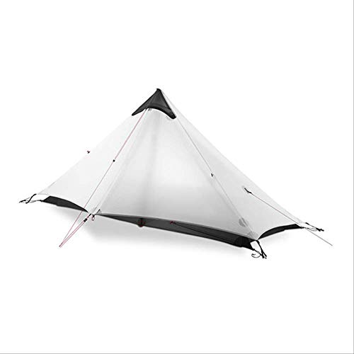 BAJIE tent Gear Lan Shan 1 Ultralight 15D Silicone Coated 1 Man Single Person Backpacking Tent 3 Season For Camping Hiking Trekking 15D Gray 1 People