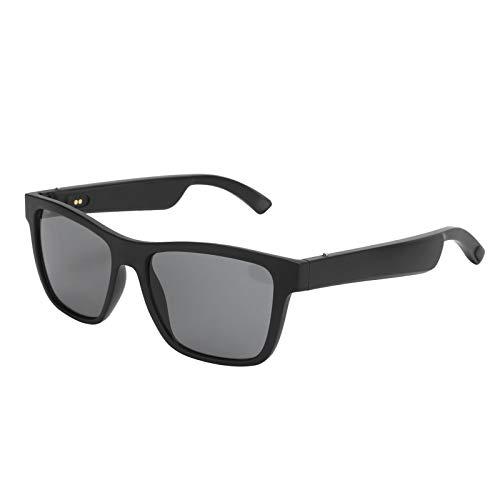 Gafas de sol inalámbricas con Bluetooth, gafas anti-azules con Bluetooth 5.0, gafas de sol polarizadas con auriculares inteligentes Bluetooth de conducción ósea, adecuadas para conducir, hacer deporte
