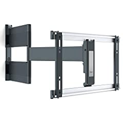 ULTRA LOW PROFILE, STYLISH AND SECURE: The flattest full motion TV mount series available, mount your TV just 1. 9'' from the wall. Sturdy mounting bracket safely secures TVs weighing up to 66 lbs. SUPER SMOOTH SWIVEL AND EXTENSION: turn your TV up t...