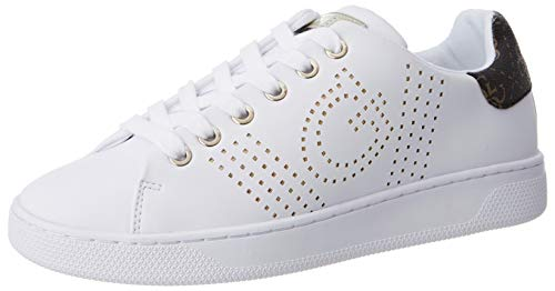 Guess RANVO/Active Lady/Leather Like, Oxford Plano Mujer, Blanco, 38 EU